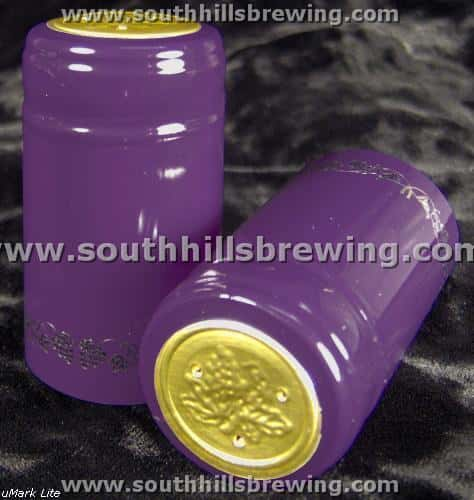 Shrink Capsule-Purple w/Silver Grapes (500 pack)