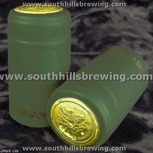 Shrink Capsule-Green w/Gold Grapes (30 pack)