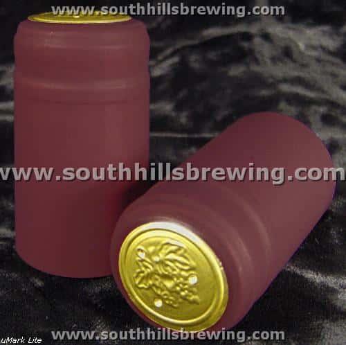 Shrink Capsule-Burgundy (500 pack)
