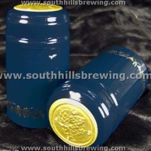 Shrink Capsule-Blue w/Gold Grapes (500 pack)