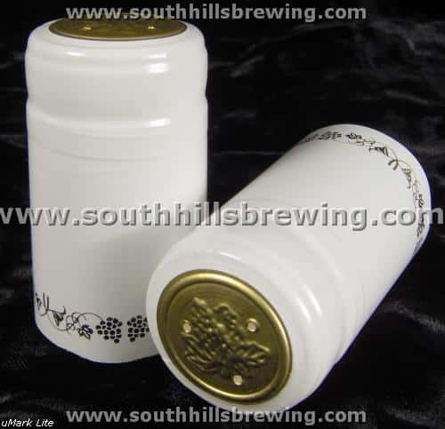 Shrink Capsule-White w/Gold Grapes (30 pack)
