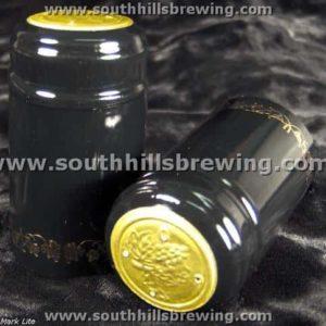 Shrink Capsule-Black w/Gold Grapes (500 pack)