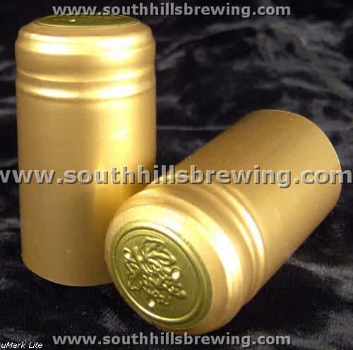 Shrink Capsule-Gold (500 pack)