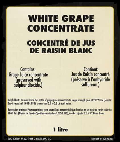 Grape Concentrate, White