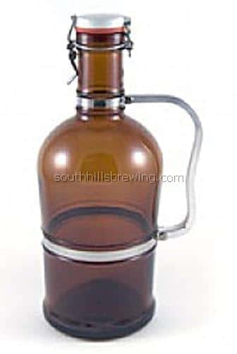 Beer Bottle 2-Liter Amber Growler Main Image